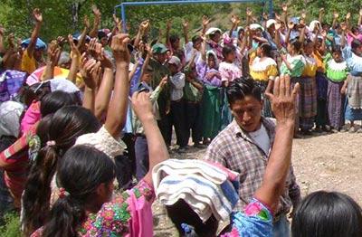 Konsultation der Gemeinde Cunén, Guatemala