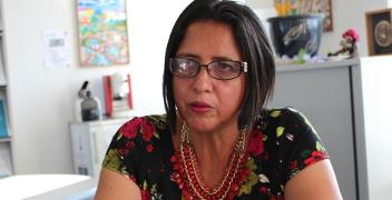 Die honduranische Journalistin und Menschenrechtsverteidigerin Dina Meza