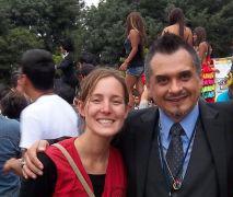 Aline Herrera war als Freiwillige der Menschenrechtsorganisation peace brigades international (pbi) in Guatemala