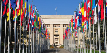 Das Palais des Nations in Genf