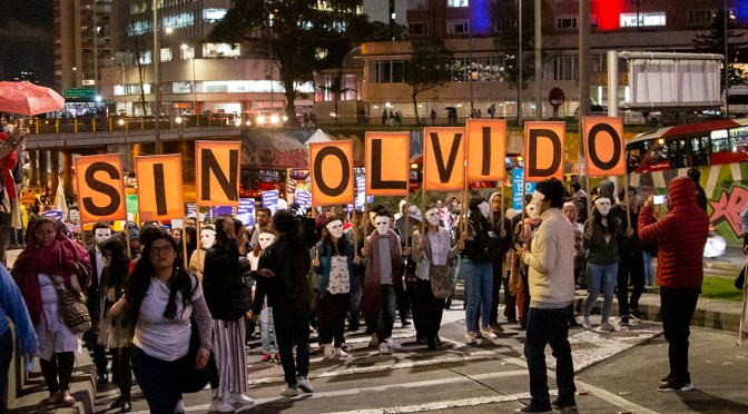 Demonstration in Kolumbien