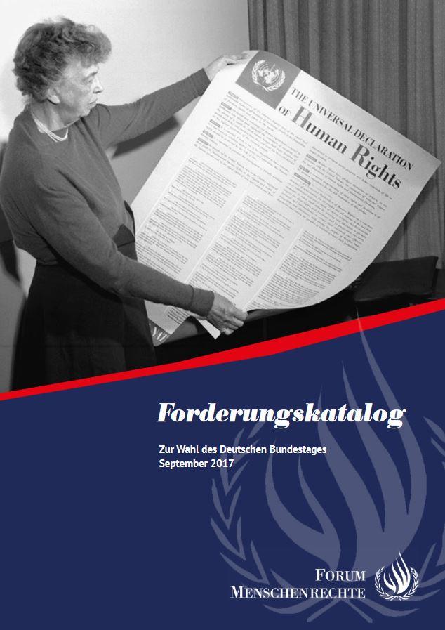 Forderungskatalog zur Bundestagswahl_FORUM MENSCHENRECHTE