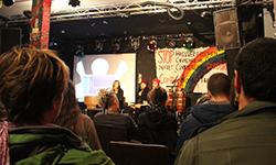 Veranstaltung mit der LGBTIQ-Aktivistin Frenessys Sahory Reyes der Organisation Arcoiris