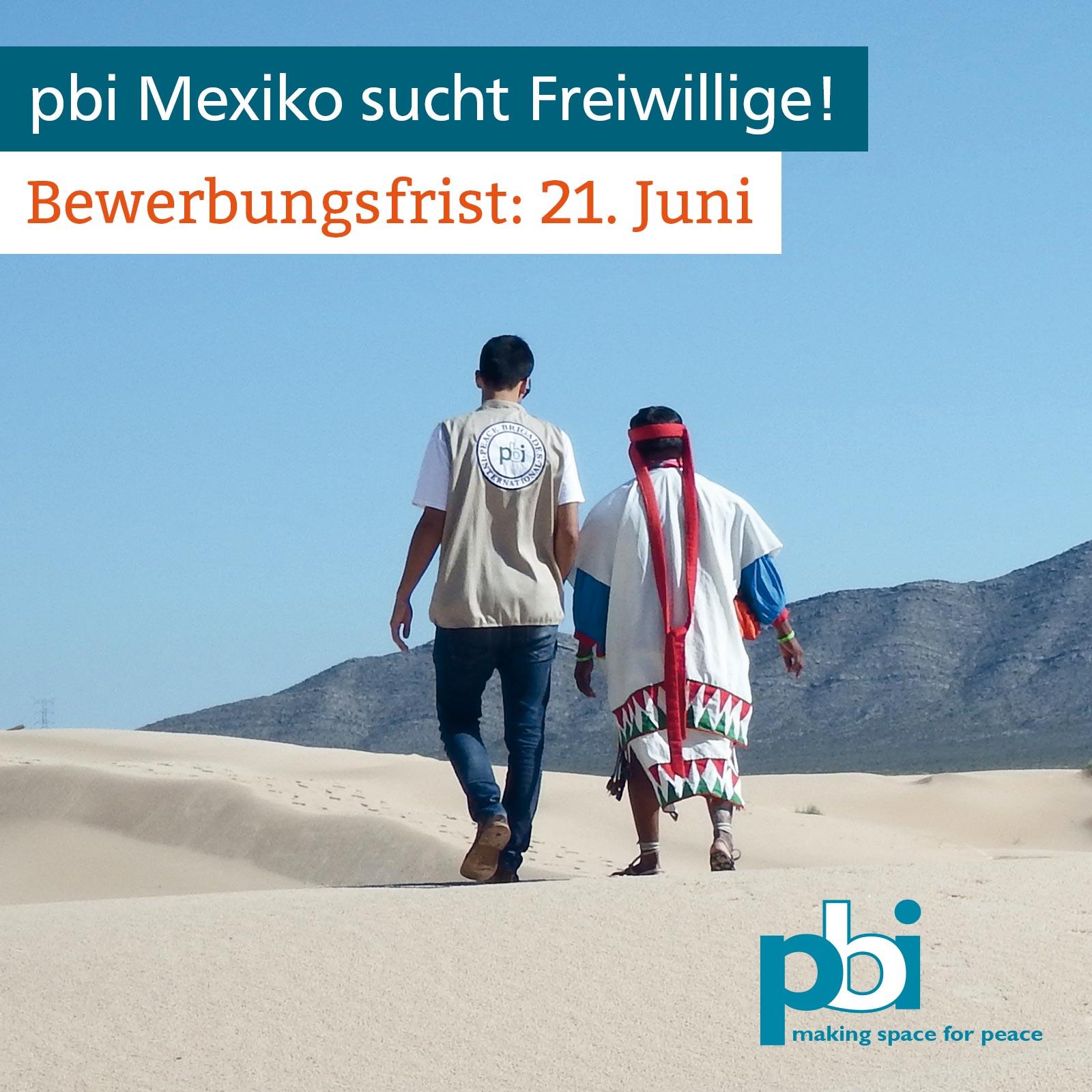 Bewerbungsfrist Freiwilligeneinsatz Mexiko