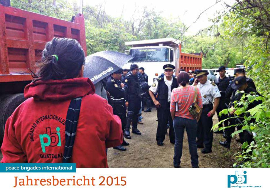 Der Jahresbericht von pbi Deutschland 2015