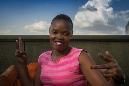 """Lilian Awuor Onyango ist eine Menschenrechtsverteidigerin aus Mathare (Nairobi). Sie ist ein Mitglied des """"Pan-African Grassroots Women Liberation Movement""""."""