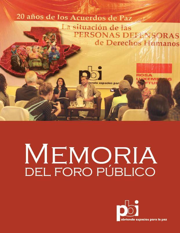Memoria del foro publico