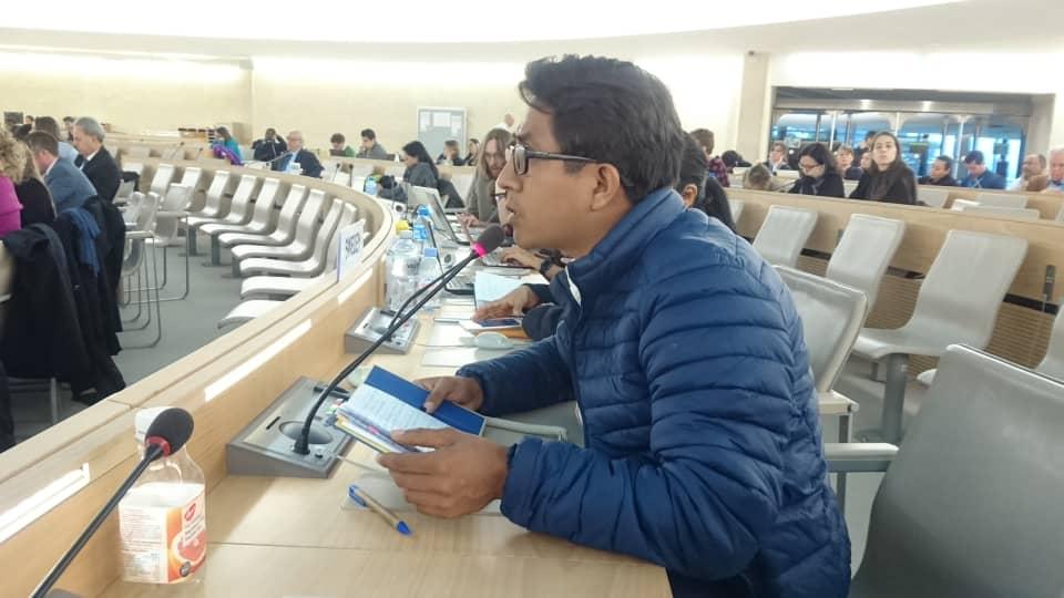 Redebeitrag von Neftalí Reyes Méndez, Koordinator von EDUCA, an der Podiumdiskussion über den Schutz von Menschenrechtsverteidiger_innen.