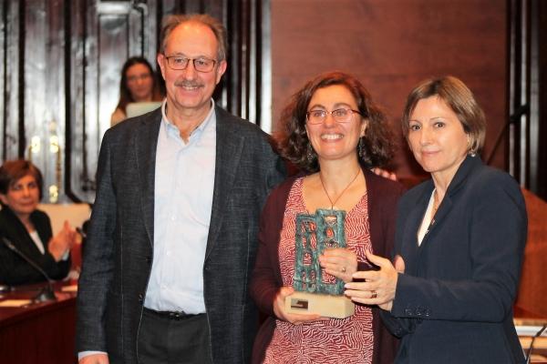 Preisverleihung ´Premio Constructores de Paz`_Carme Forcadell, Montserrat García und Xavier Masllorens