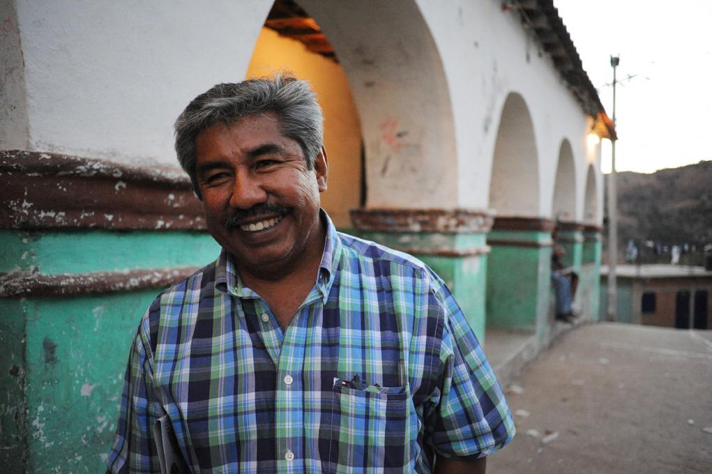 """Abel Barrera, AI-Menschenrechtspreisträger 2011, ist Leiter des Menschenrechtszentrums """"Tlachinollan"""" in Mexiko und wird aufgrund mehrfacher Morddrohungen seit 2003 von pbi begleitet."""
