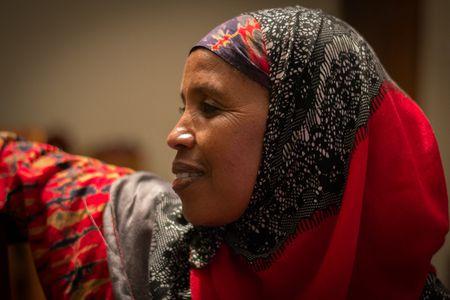 """Rahma Wako ist eine Menschenrechtsverteidigerin aus Mathare (Nairobi). Sie ist ein Mitglied des """"Mathare Social Justice Centre""""."""