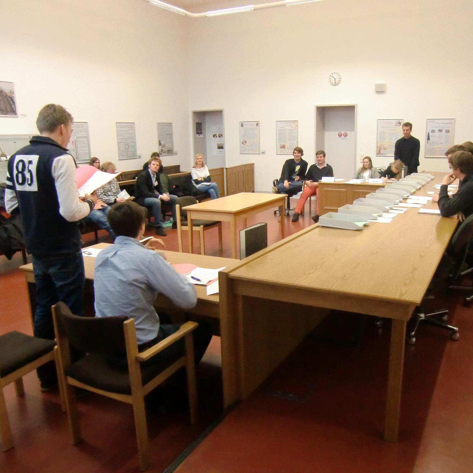 Rollenspiel Offener Gerichtssaal