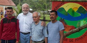 UNO-Sonderberichterstatter Michel Forst besucht die Friedensgemeinde San José de Apartadó