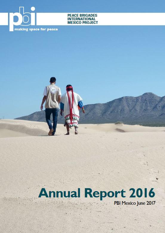 Jahresbericht pbi Mexiko 2016