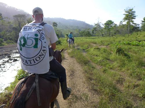 pbi-Freiwilliger in Kolumbien
