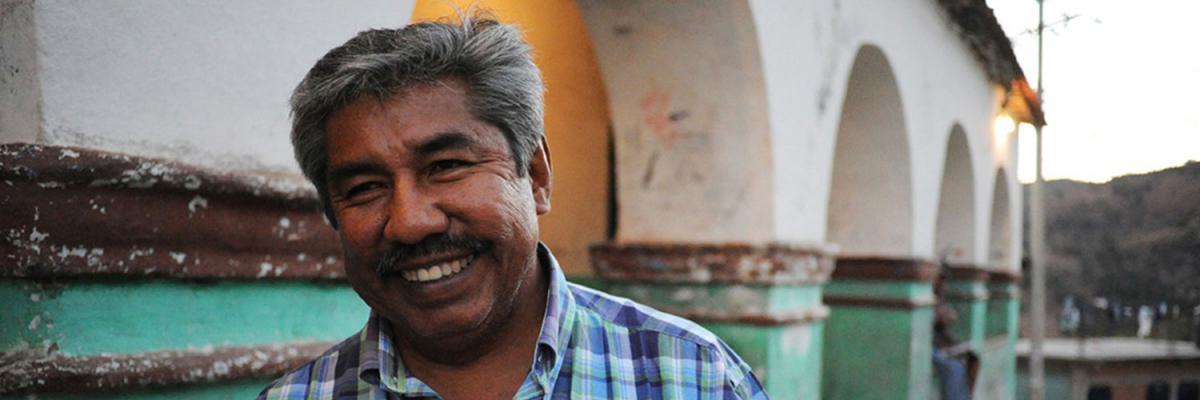 Abel Barrera Hernández, der Träger des Menschenrechtspreises 2011 von Amnesty International in Deutschland, wird von pbi begleitet.
