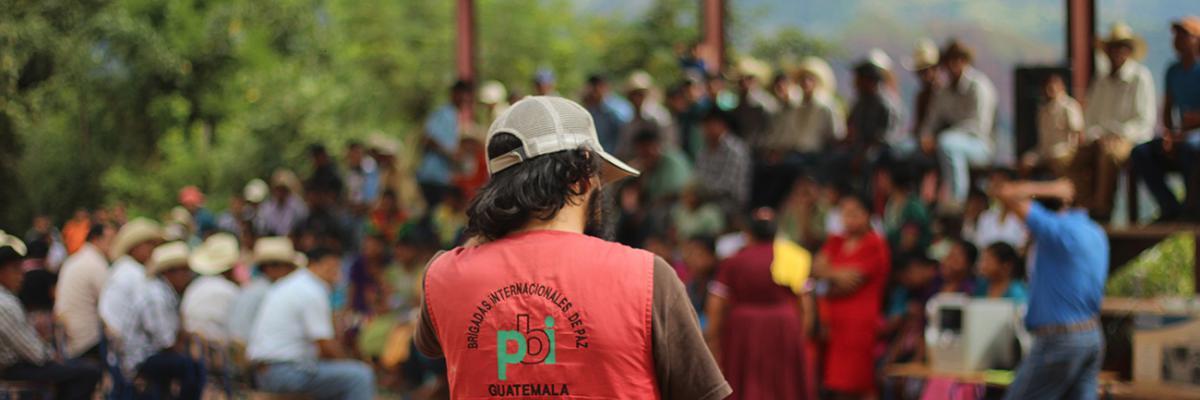 Freiwilligendienst bei der Menschenrechtsorganisation peace brigades international (pbi)