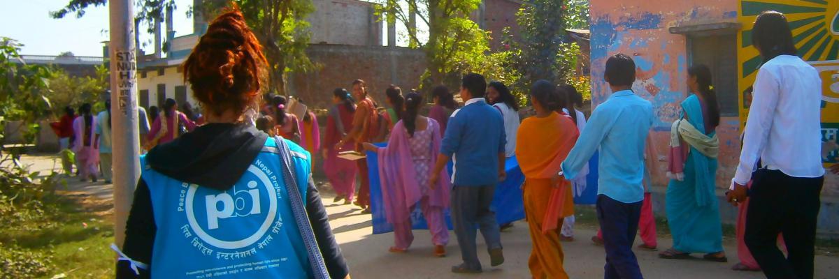 Freiwillige in Nepal