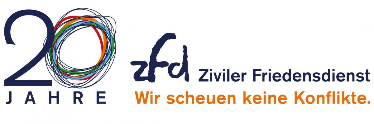 Ziviler Friedensdienst_zfd_Jubiliaeums-Logo_20 Jahre