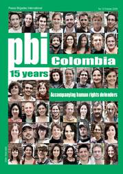 15 years pbi Colombia - Accompanying human rights defenders